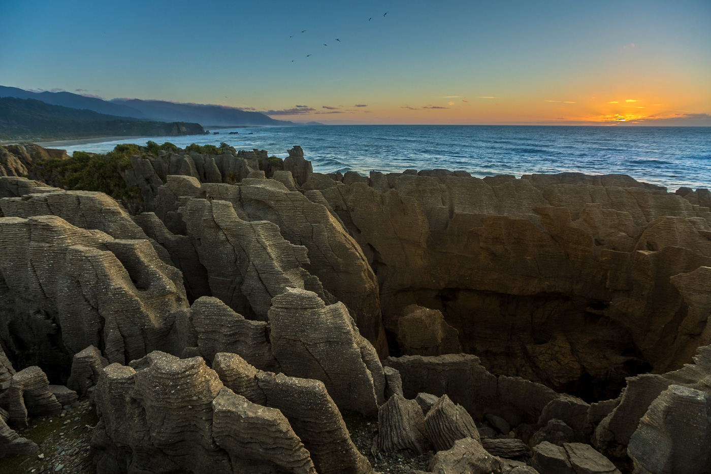 "They call them the ""Pancake Rocks."" You can see why"
